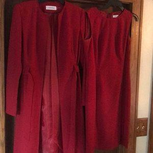 2 piece Calvin Klein coat/dress suit!